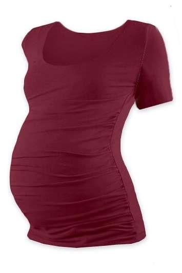JOHANKA- T-shirt for pregnant women, short sleeves, BORDEAUX