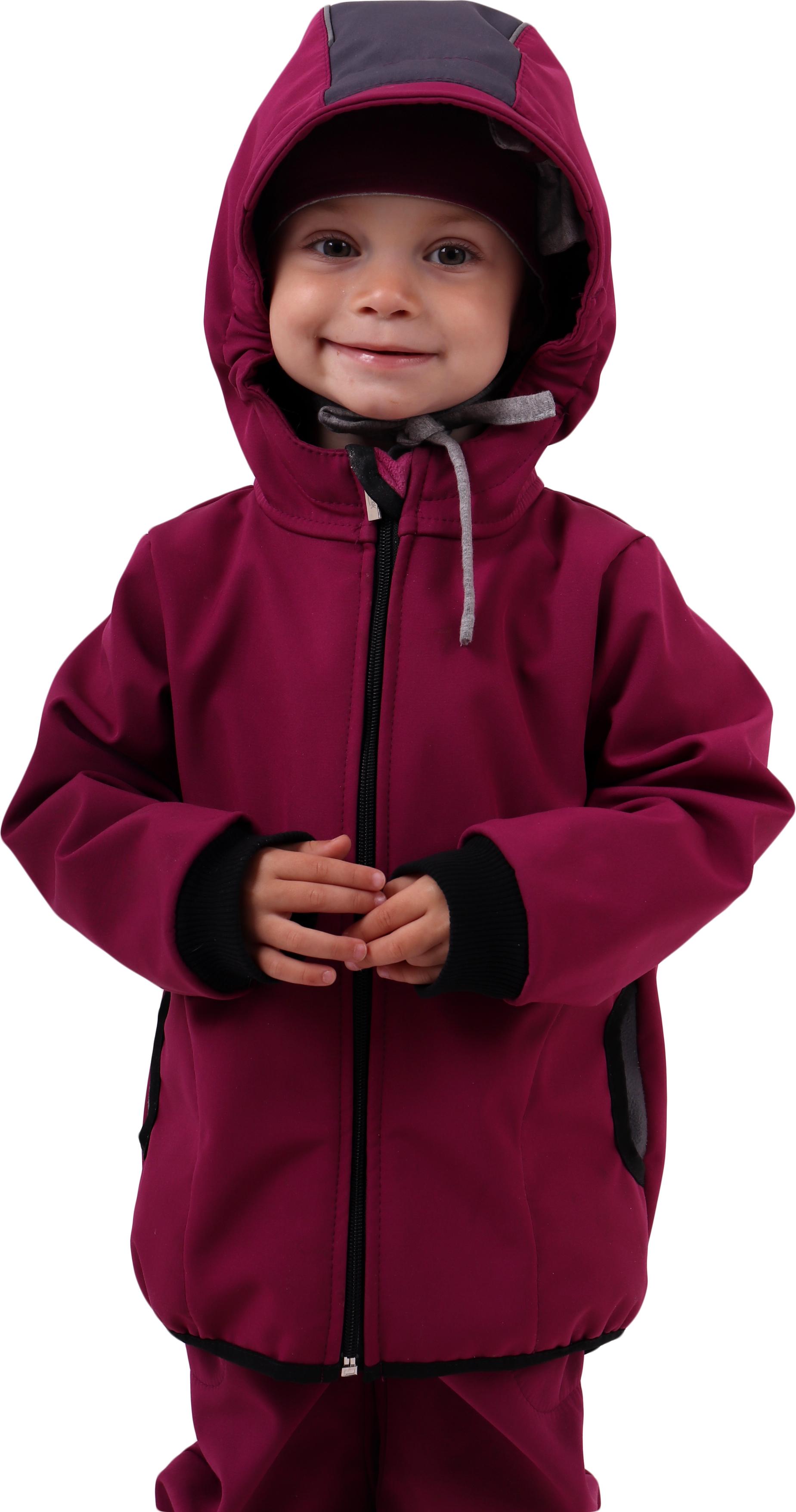 Dětská softshellová bunda, fuchsiová (sytě růžová), 80