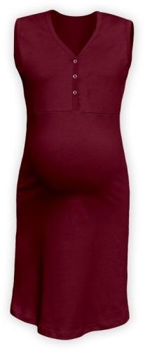 CECILIE- Nachthemd für schwangere und stillende Frauen, ohne Ärmel, bordeaux