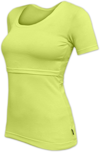 Breast-feeding T-shirt 04 Katerina, short sleeves, LIGHT GREEN