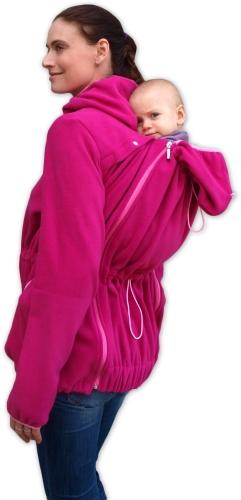 Nosící fleece mikina Nela (přední/zadní nošení), sytě růžová 2