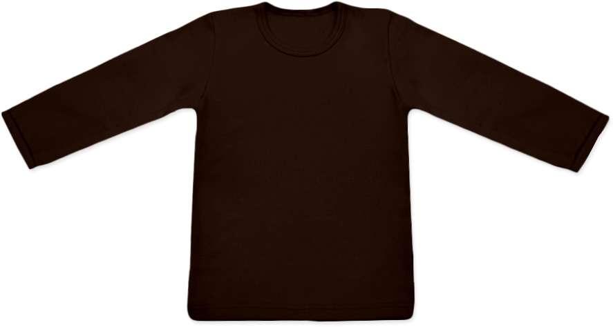 dětské tričko dlouhý rukáv s elastanem, čoko hnědá 92