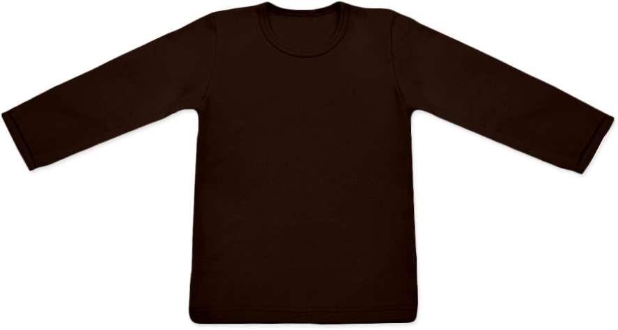 dětské tričko DLOUHÝ RUKÁV s elastanem, ČOKO HNĚDÁ
