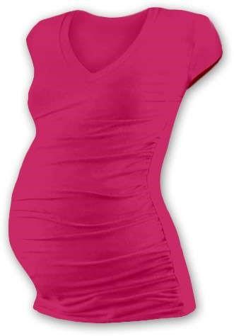 VANDA- maternity T-shirt, mini sleeves, DARK PINK