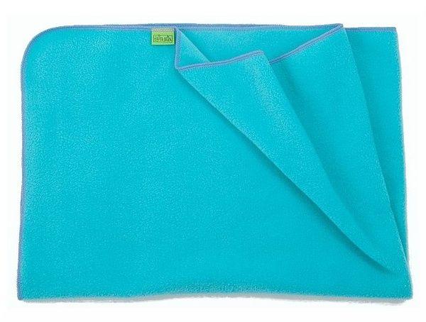 Light fleece blanket, turquoise 70x100cm