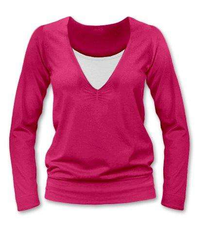 KARLA- breast-feeding T-shirt, long sleeves, DARK PINK