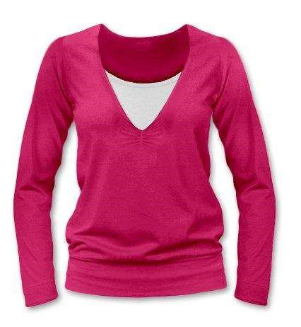 KARLA- breast-feeding T-shirt, long sleeves, DARK PINK