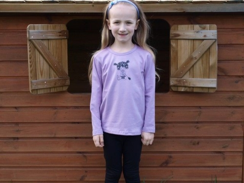 Children's T-shirt, long sleeve, lavender