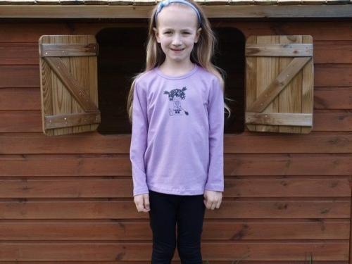 dětské tričko s DR, levandulové, ČARODĚJKA