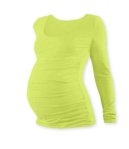 Maternity T-shirt Johanka, long sleeve, LIGHT GREEN