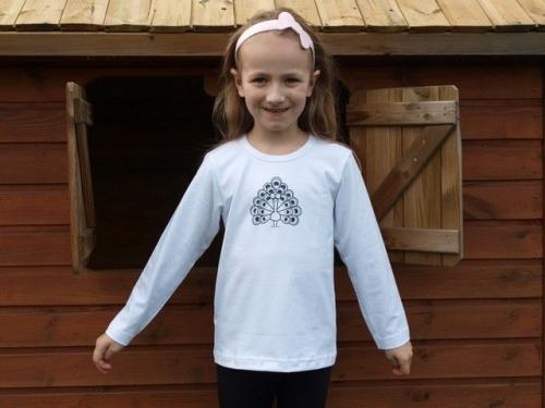 Children's T-shirt, long sleeve, white