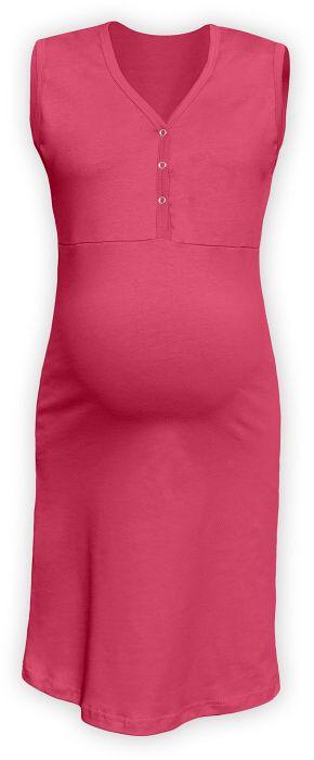Kojící noční košile rozepínací, bez rukávů, lososově růžová m/l