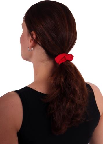 Látková gumička do vlasů, malá, červená