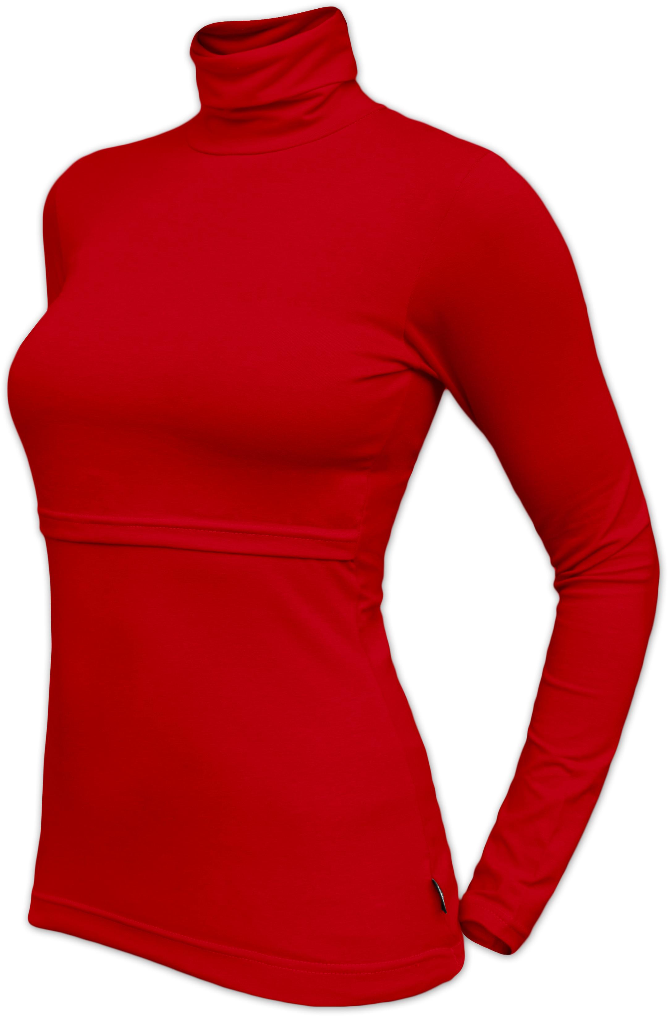 KATERINA- Stillrollkragenshirt, rot