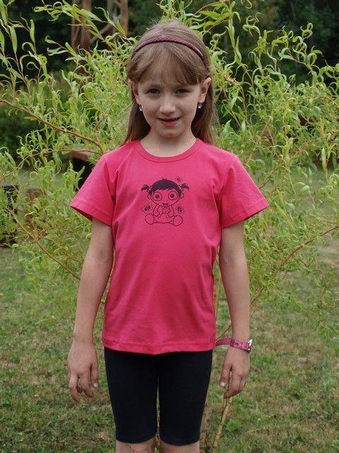 dětské tričko s KR losos. růžové, MIMI HOLČIČKA