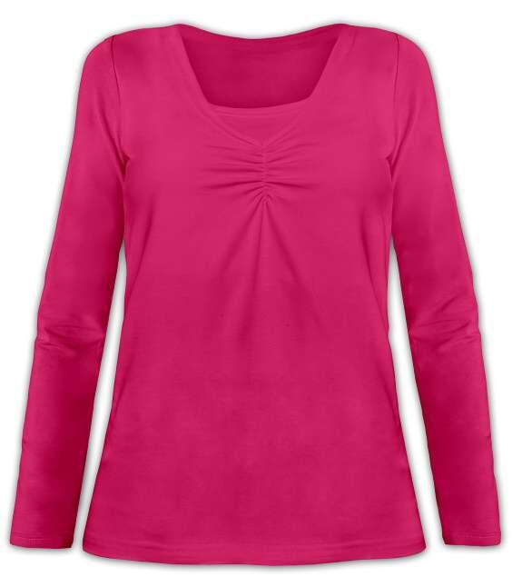 KLAUDIE- Stillshirt, lange Ärmel, sattrosa
