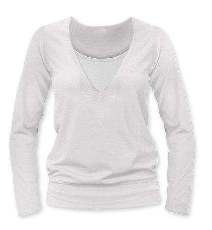 Dojčiace tričko KARLA, dlhý rukáv, smotanová