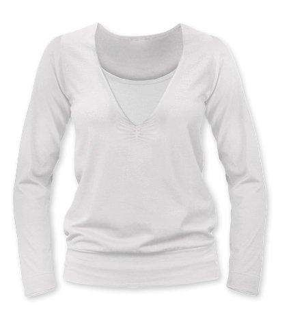 KARLA- breast-feeding T-shirt, long sleeves, CREAMY