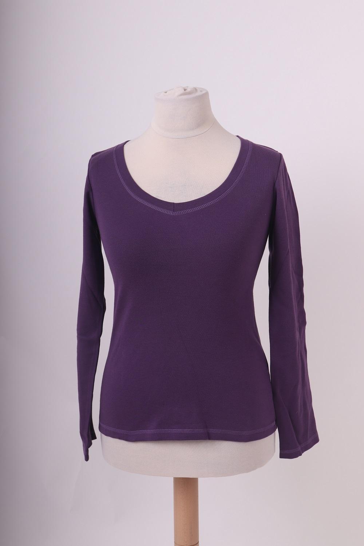 Bio-dámské tričko, dl. rukáv, fialové, m