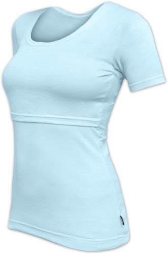 Stillshirt Katerina, kurze Ärmel, hellblau