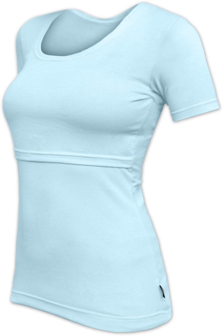KATERINA- Stillshirt, kurze Ärmel, hellblau