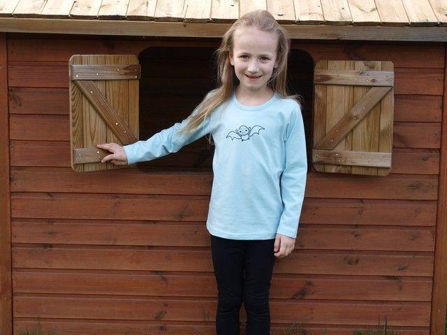 Shirt für Kinder, lange Ärmel, hellblau