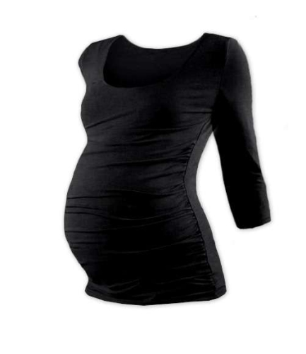 Maternity T-shirt Johanka, 3/4 sleeve, BLACK