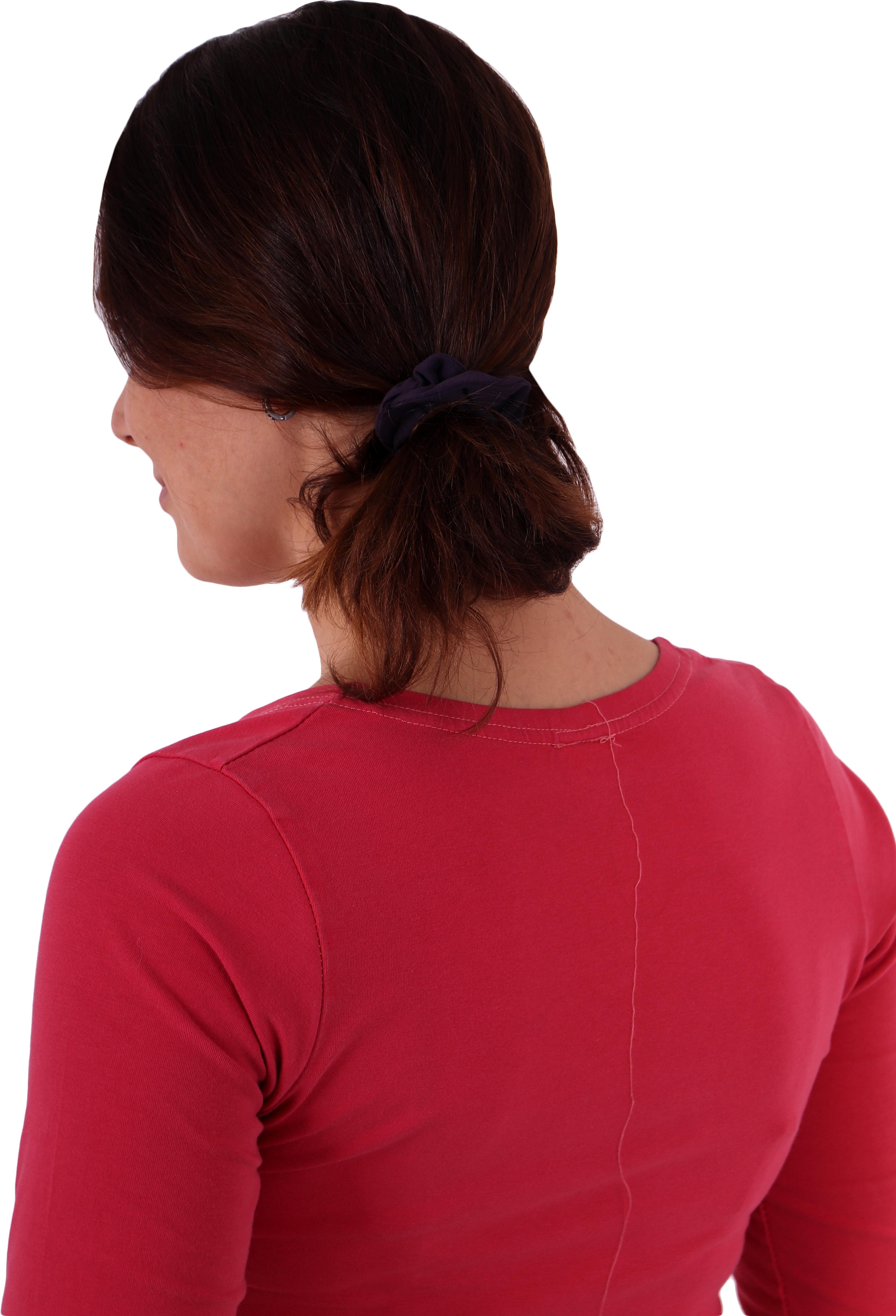 Látková gumička do vlasů, malá, švestkově fialová