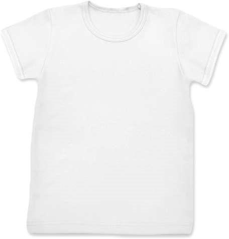 Dětské tričko, krátký rukáv, bílé