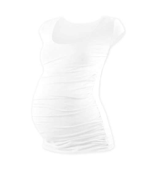 JOHANKA- T-shirt for pregnant women, mini sleeves, WHITE