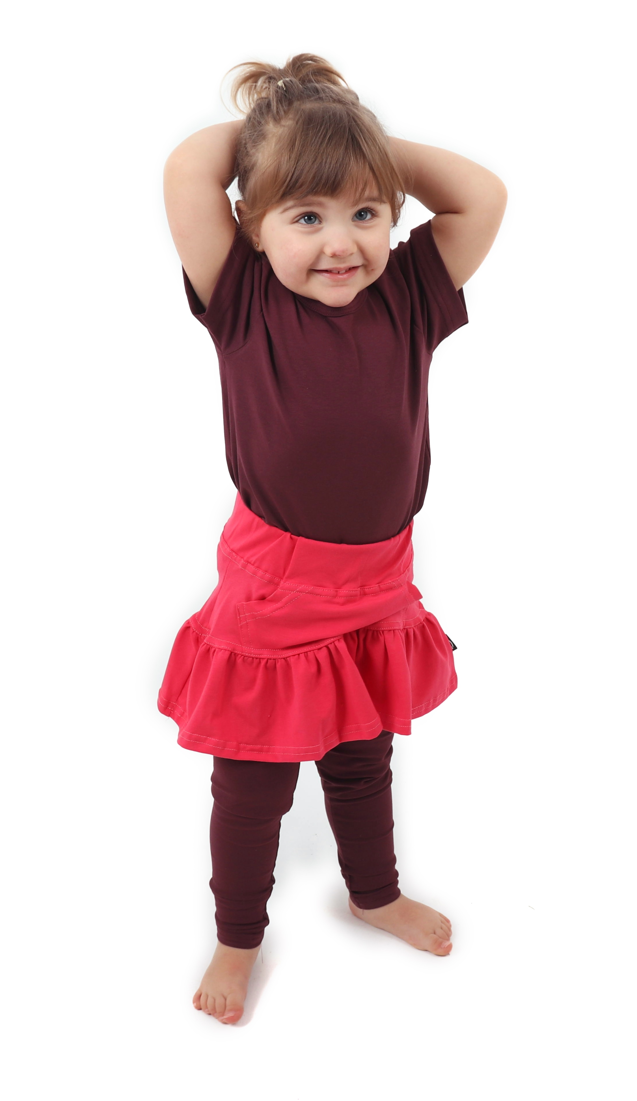 Dívčí (dětská) sukně,  LOSOSOVĚ RŮŽOVÁ