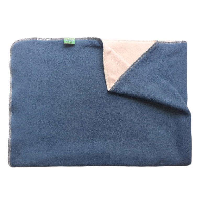 Deka do kočárku teplá, fleece, modrá, krémová rozměr 70x100cm