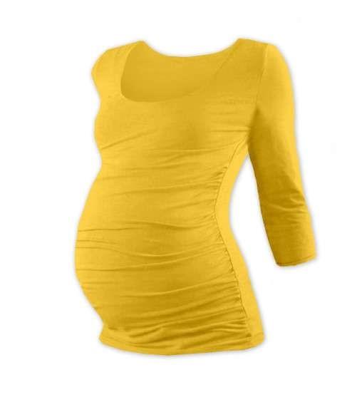 JOHANKA- maternity T-shirt, 3/4 sleeve, YELLOW-ORANGE