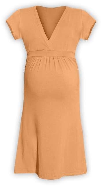 Těhotenské šaty šarlota, sv. oranžová l/xl