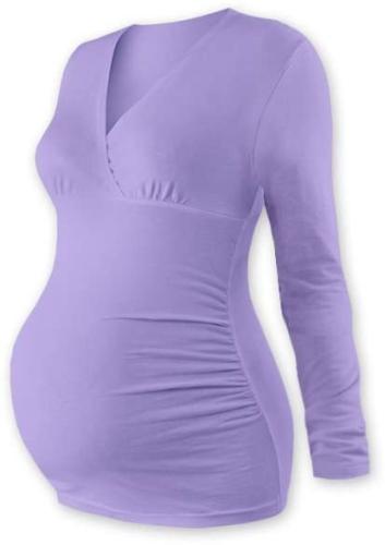 Umstandstunika Barbora, lange Ärmel, Lavendel