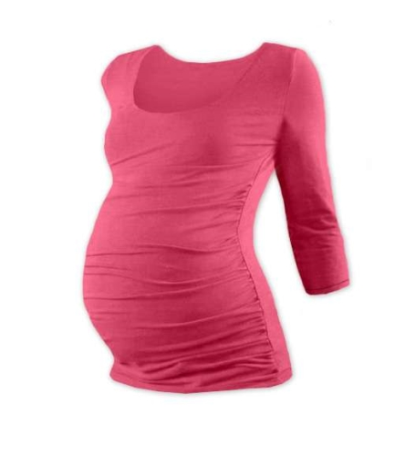 Maternity T-shirt Johanka, 3/4 sleeve, SALMON PINK