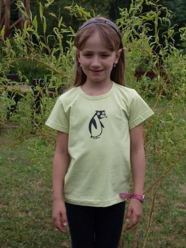 detské tričko s KR, sv. zelené, TUČNIAK