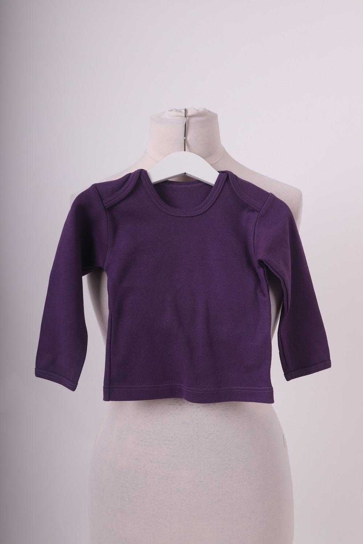 Bio-dětské tričko, dl. rukáv, fialové, 62