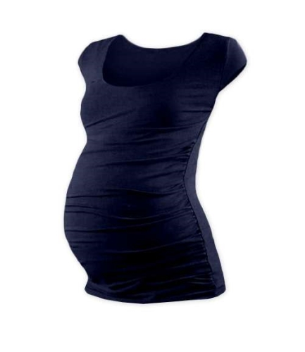 Tehotenské tričko Johanka, mini rukáv, tmavo modré