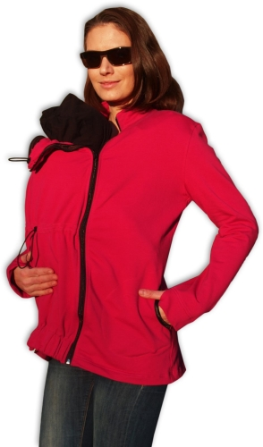 Maternity and babywearing hoodie ( front babywearing only ) Marta, RASPBERRY