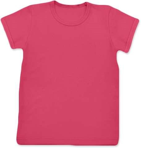 Shirt für Kinder, kurze Ärmel, lachsrosa