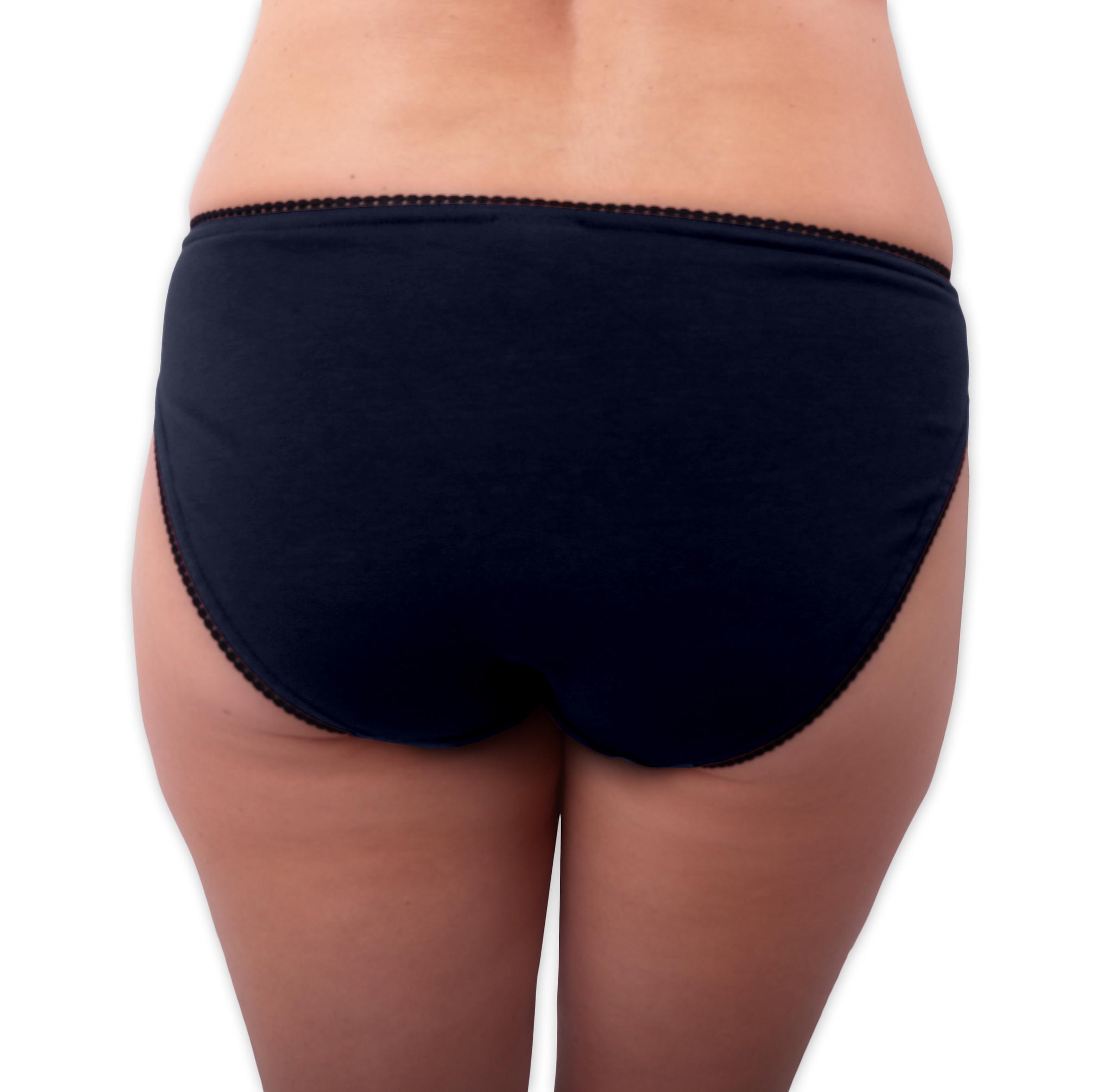 Dámské kalhotky bavlněné, klasický střih, tmavě modré, 44