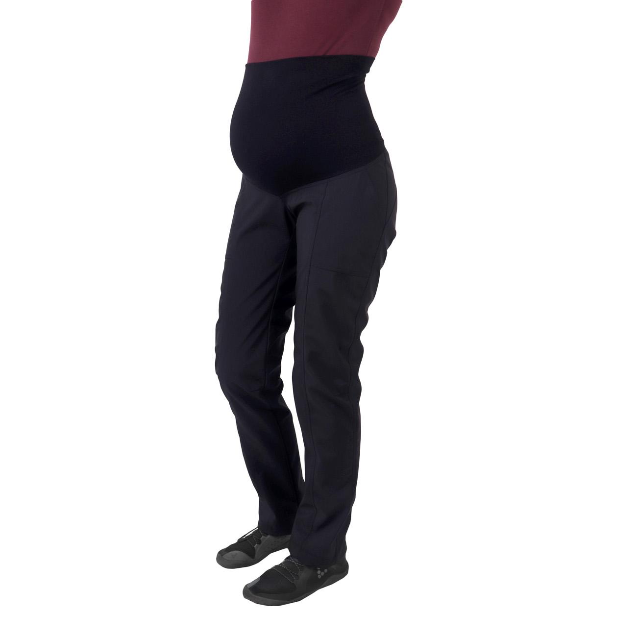 Jarní/letní těhotenské softshellové kalhoty liva, černé, 36 zkrácená délka