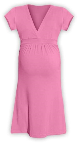 Tehotenské šaty Šarlota, ružové