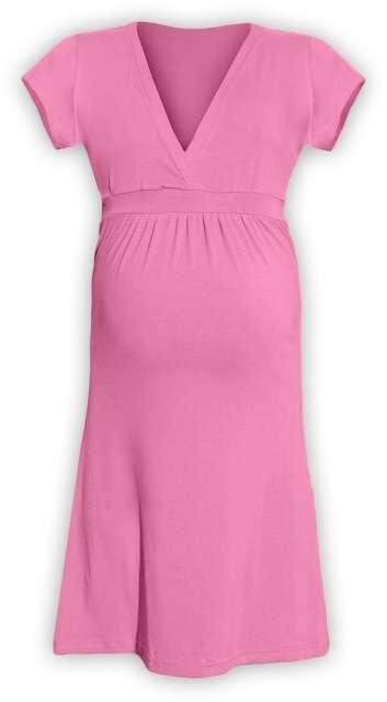 Těhotenské šaty šarlota, růžová l/xl