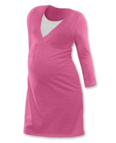 Kojicí noční košile Lucie, dlouhý rukáv, růžová