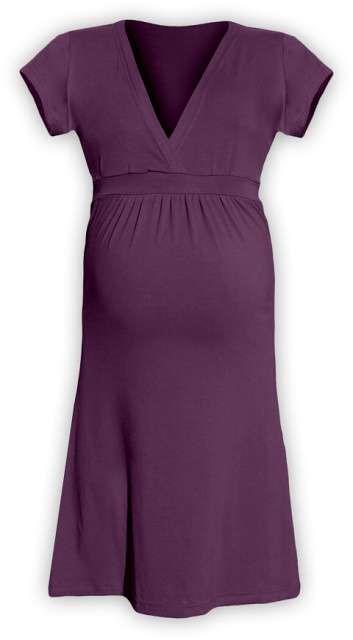 Těhotenské šaty Šarlota, švestkově fialové