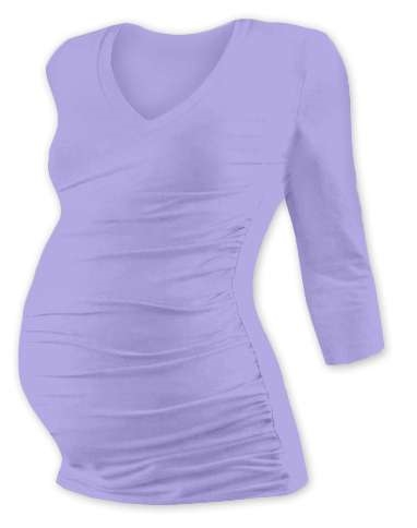 Maternity T-shirt Vanda, 3/4 sleeves, LILAC