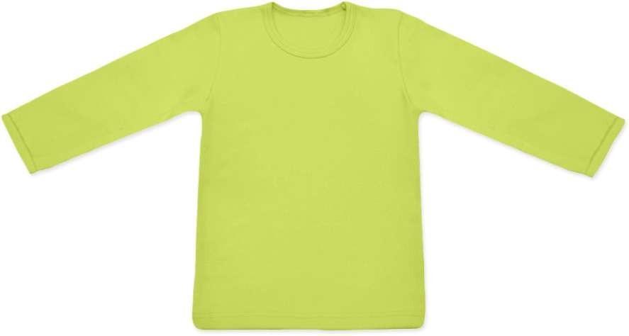 dětské tričko DLOUHÝ RUKÁV s elastanem, SVĚTLE ZELENÁ