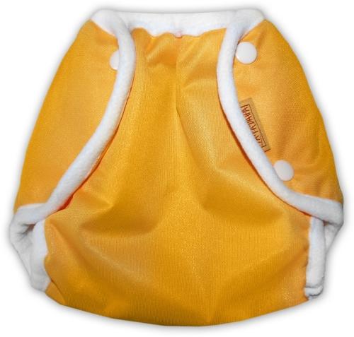 Nepromkovavé svrchní kalhotky na látkové pleny PUL, oranžové, bílé